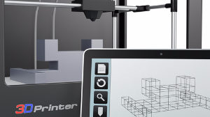 3d printer with CAD software